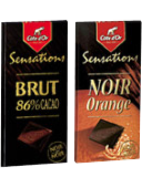 Lancering 'Sensations' Noir Orange en 'Sensations' Brut 86%.
